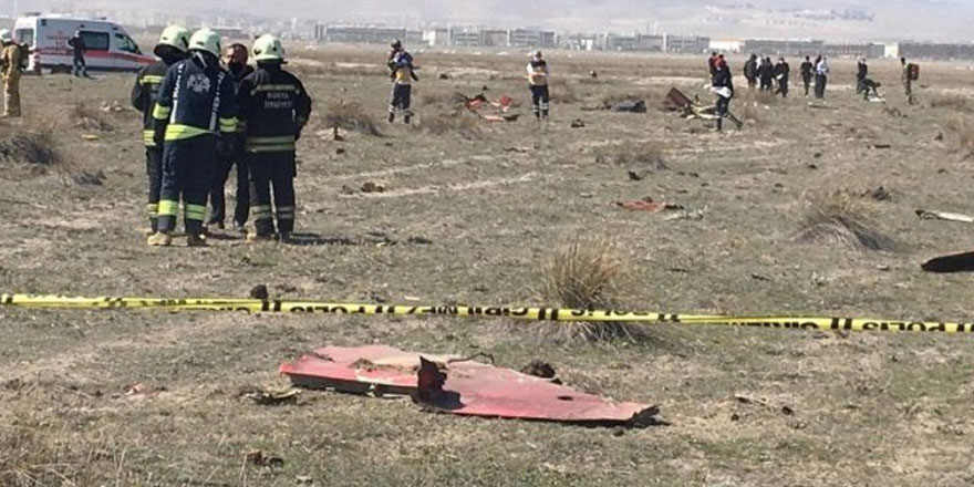 Konya'da askeri eğitim uçağı düştü