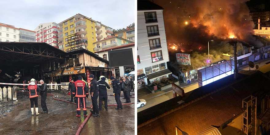 Ankara'da 20 iş yeri yandı