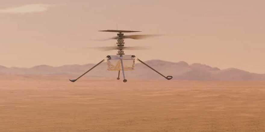 Mars'ta bir helikopter uçtu! NASA duyurdu tarihi deneme başarılı oldu