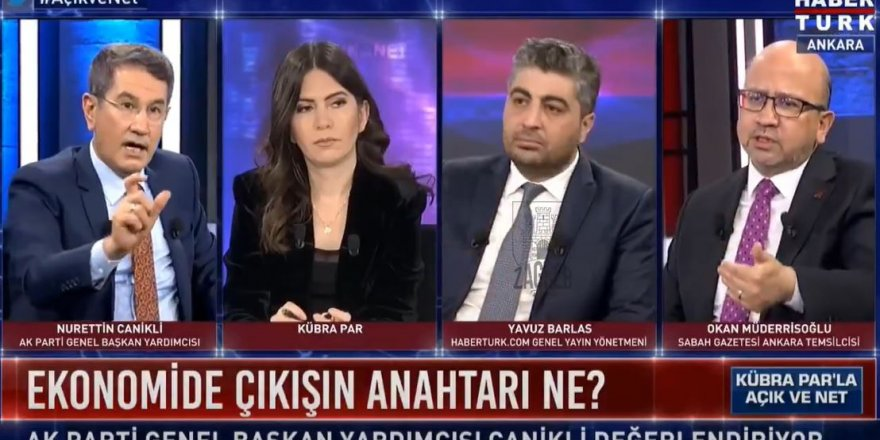 AKP'li Nurettin Canikli'den canlı yayında olay sözler