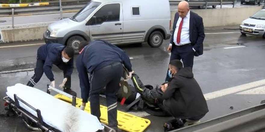 İstanbul Pendik'te sipariş yetiştirmeye çalışan İsmail Bitkaya'ya otomobil çarptı