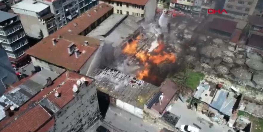 İstanbul'da emniyetin deposunda yangın