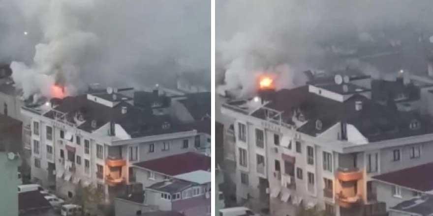 Ataşehir'de iftar vaktinde korkutan yangın yangın