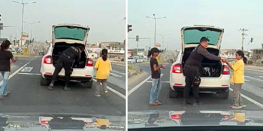 Mardin'de polis memurundan duygulandıran davranış