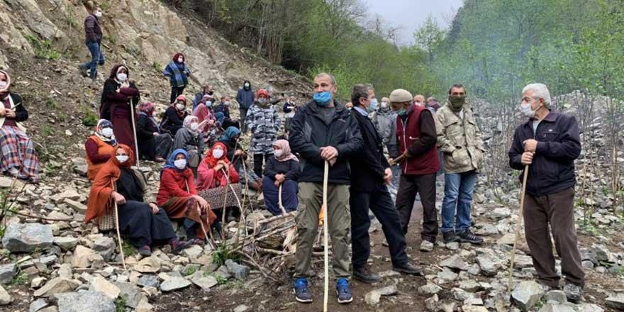 Cengiz İnşaat'ın taş ocağına halk tepkisi