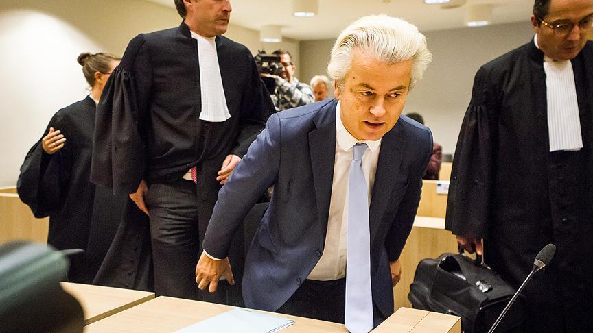 Irkçı lider Wilders'ten küstah mesajlar