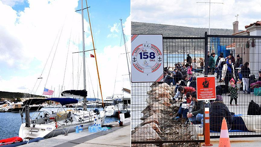 Lüks yatla İtalya'ya gitmeye çalışan 83 yabancı uyruklu yakalandı