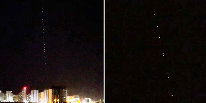 Sıralı ışıklar, Çin roketi sanıldı