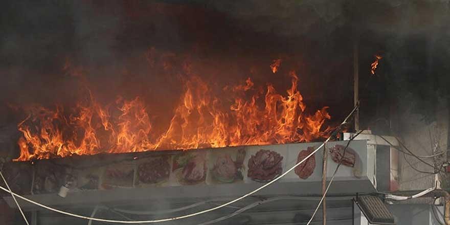 Kayseri'de iş yerinde yangın paniği!