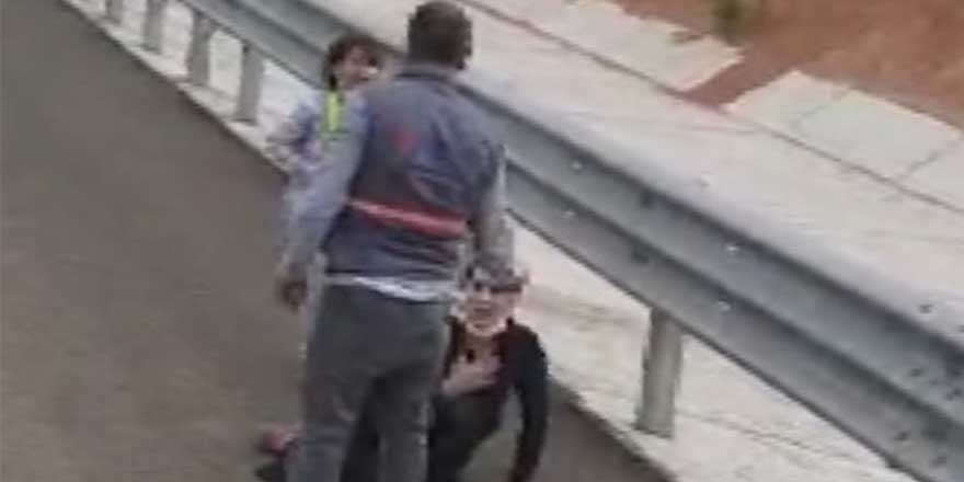 Ankara'da otoyolda, çocuğunun gözü önünde dehşeti yaşattı!