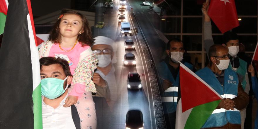 Türkiye'nin birçok ilinde İsrail'in Filistinlilere yönelik saldırıları protesto edildi