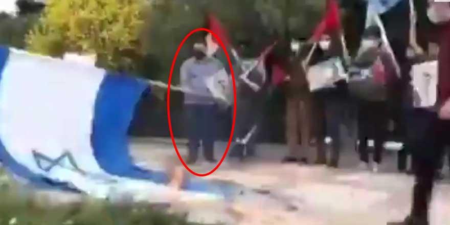 İsrail'i protesto etmek isterken kendini yaktı