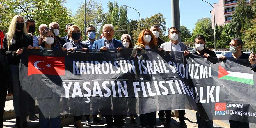 CHP'den İsrail Büyükelçiliği'ne siyah çelenk