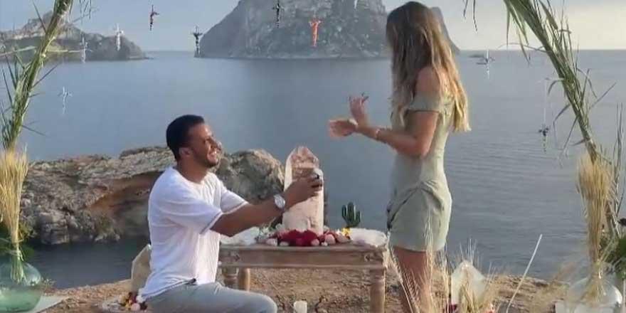 Sosyal medya bu görüntüleri konuşuyor! Mısırlı milyarder sevgiliden Şeyma Subaşı'na evlenme teklifi