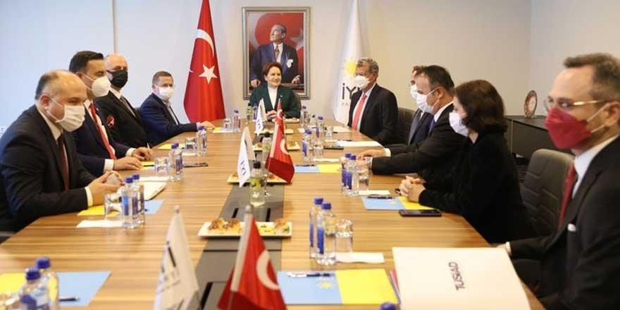 İYİ Parti lideri Meral Akşener TÜSİAD heyetiyle görüştü
