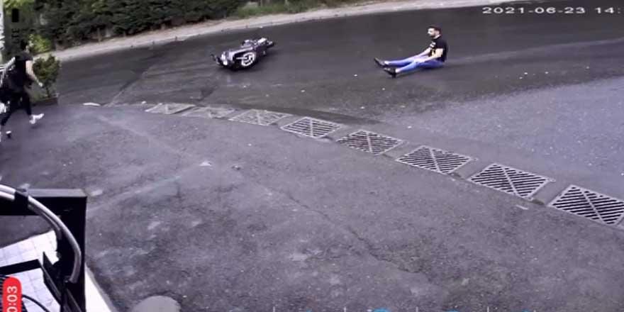 Böyle motosiklet kazası görülmedi!