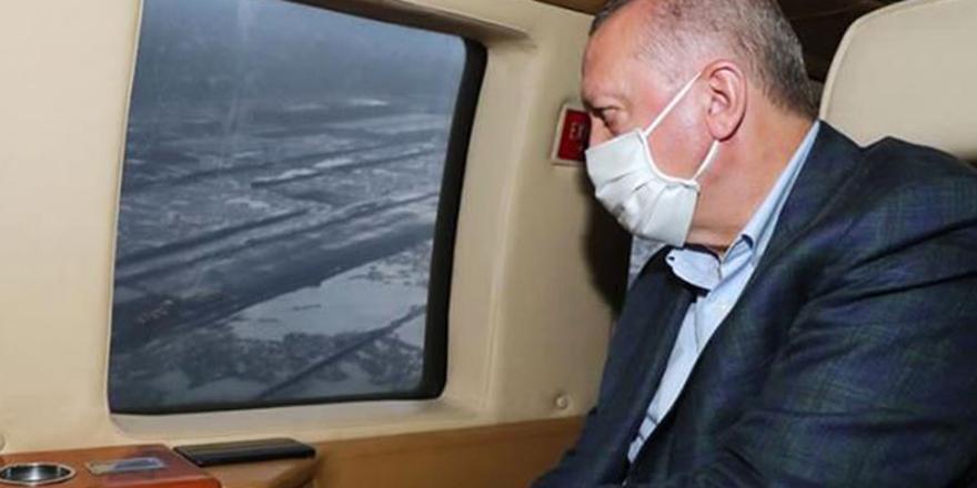 Erdoğan'ın helikopteri hava muhalefeti nedeniyle zorunlu iniş yaptı