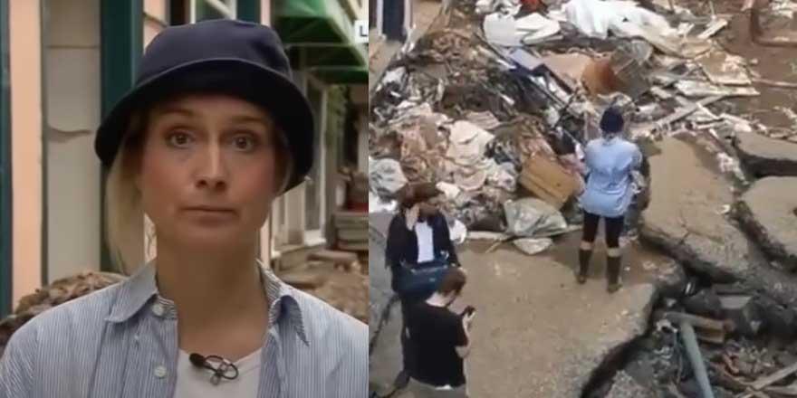 Afet bölgesinde muhabir  Susanna Ohlen'den skandal hareket! Gerçek ortaya çıkınca kovuldu
