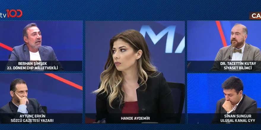 Canlı yayında gergin anlar! TV100'de Berhan Şimşek ile Tacettin Kutay birbirine girdi