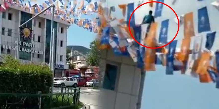 Son Dakika... AKP Bursa İl Başkanlığı binasında intihar girişimi!