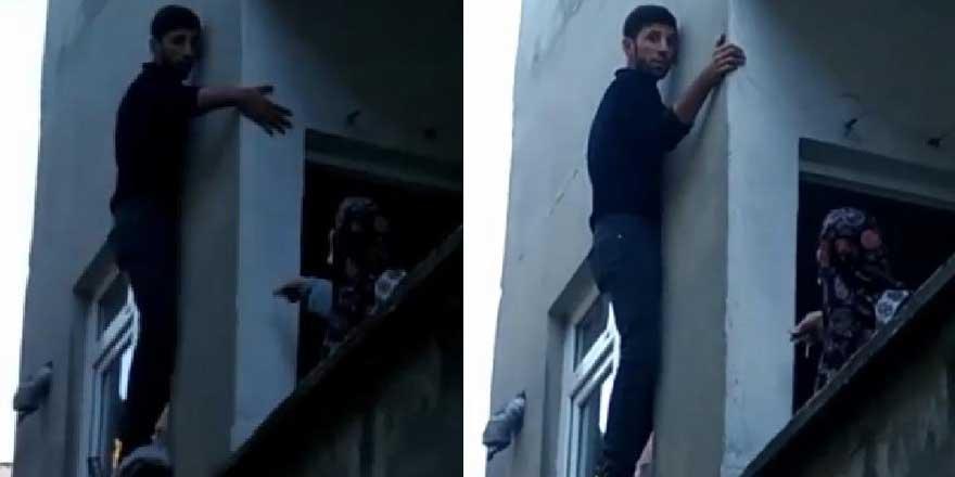 İstanbul'da pencerede mahsur kalan hırsıza, bina sakinleri acıdı