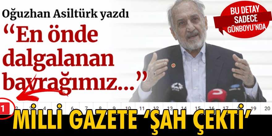 Milli Gazete, Temel Karamollaoğlu'na 'Şah çekti'
