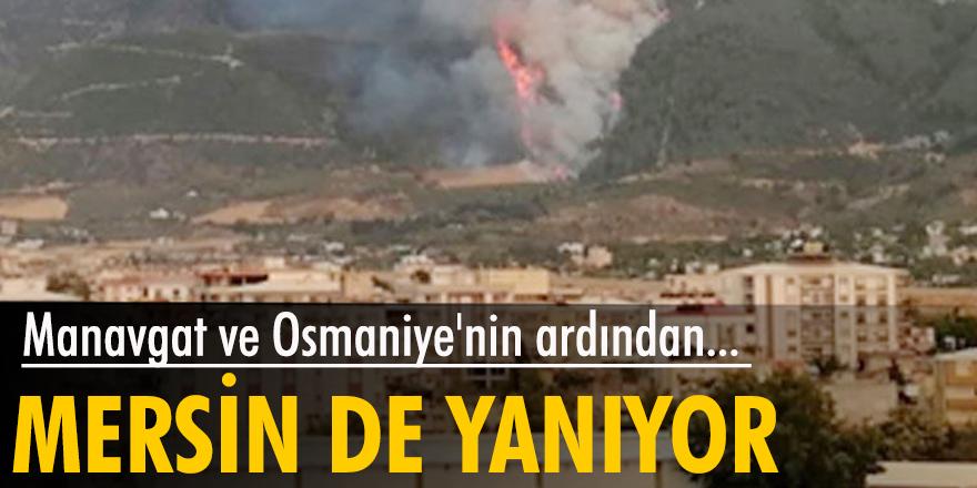 Manavgat ve Osmaniye'nin ardından Mersin'de de orman yangını