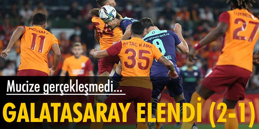 Galatasaray evinde konuk ettiği PSV'ye 2-1 yenildi