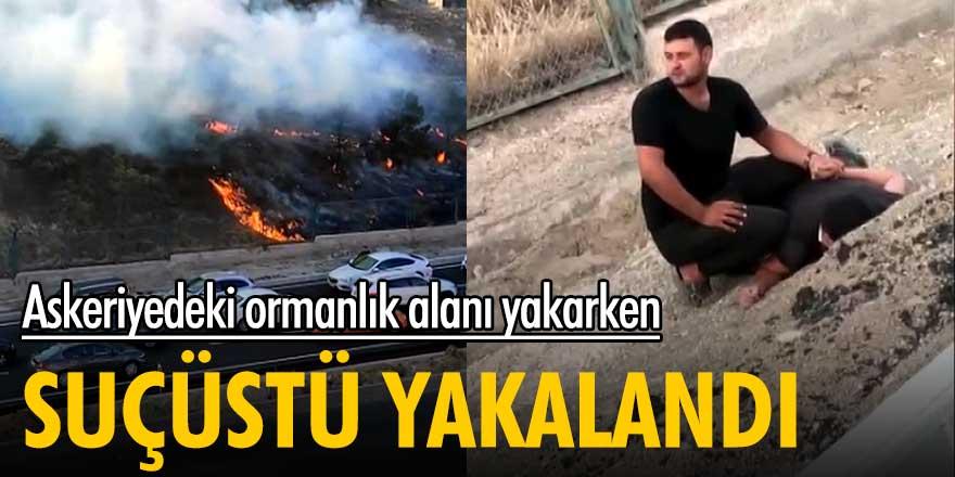 Ankara'da askeriyedeki ormanlık alanı ateşe verirken suçüstü yakalandı