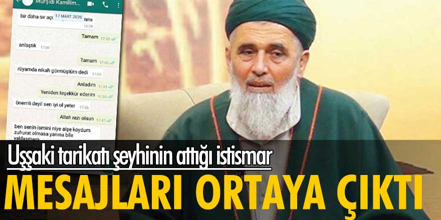 Uşşaki tarikatı şeyhi Eyyüp Fatih Şağban'ın attığı istismar mesajları ortaya çıktı