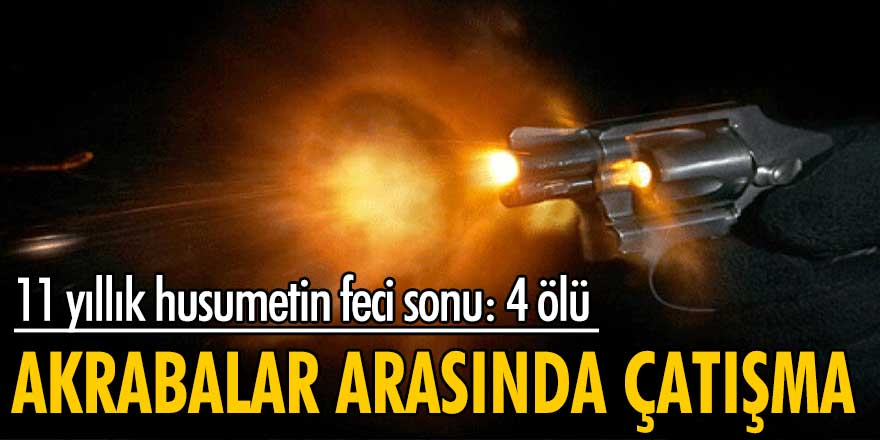 Trabzon'da akrabalar arasında çatışma: 4 ölü