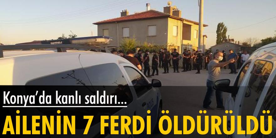 Konya'da silahlı saldırı, yangın: 7 ölü