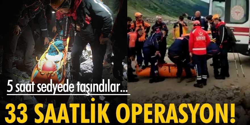 Kaçkar Dağları'ndan 2 Ukraynalı dağcı 33 saat sonra kurtarıldı!