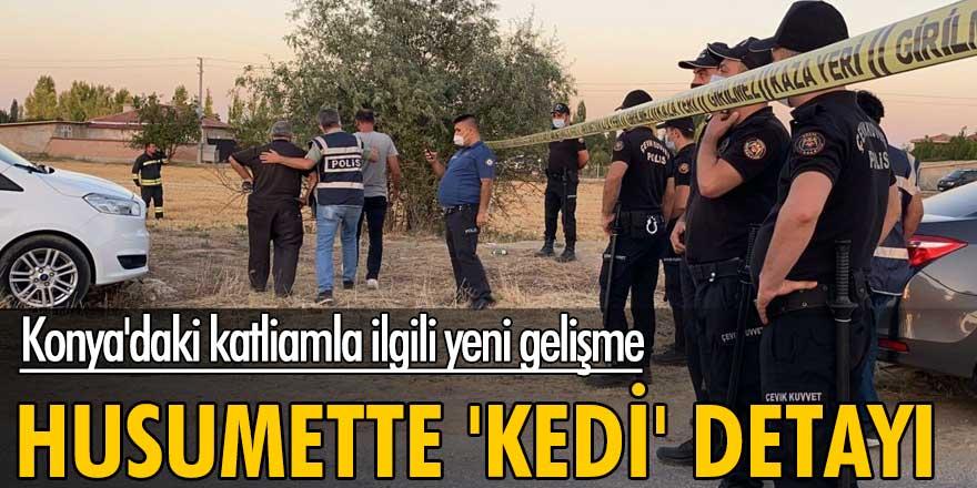Konya'daki katliamla ilgili yeni gelişme!  Husumette 'kedi' detayı