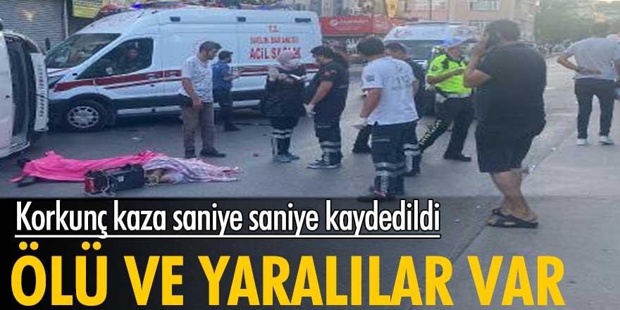 İstanbul'da korkunç kaza saniye saniye kaydedildi! Ölü ve yaralılar var