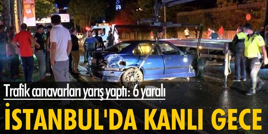 Trafik canavarları yarış yaptı: 6 yaralı