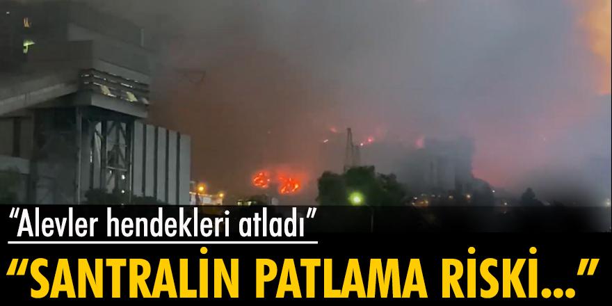 Milas'ta alevler Kemerköy Termik Santrali'ne girdi!