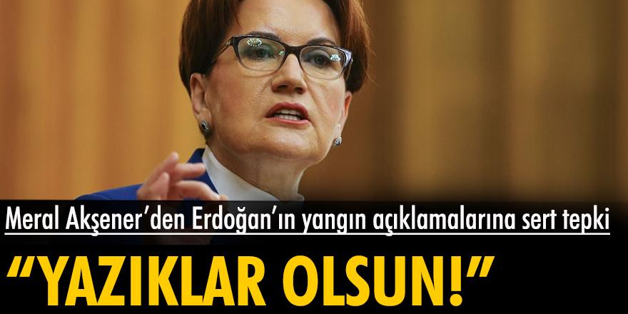 Meral Akşener'den Erdoğan'ın yangın açıklamalarına sert tepki