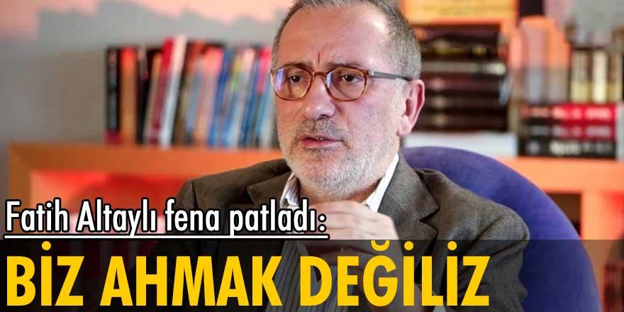 HaberTürk yazarı Fatih Altaylı, evleri yanan köylülere kredi teklif edilmesini eleştirerek, iktidara tepki gösterdi