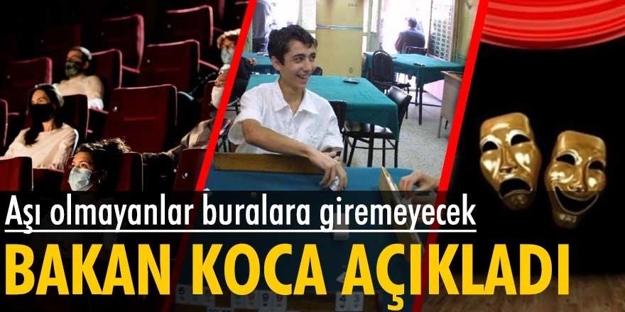 Sağlık Bakanı Fahrettin Koca açıkladı: Aş olmayanlar...