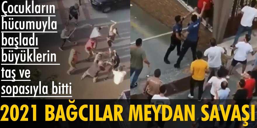 İstanbul Bağcılar'da meydan savaşı! Bıçak ve sopalar havada uçuştu