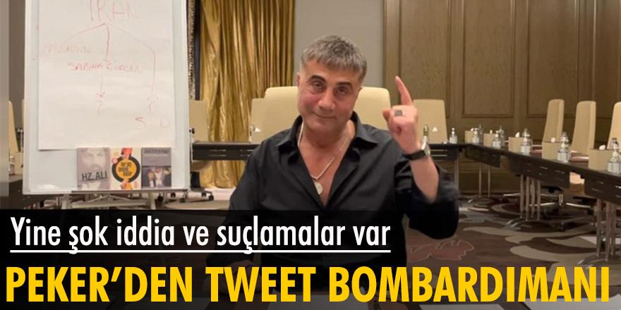 Yine şok iddia ve suçlamalar var! Peker'den tweet bombardımanı
