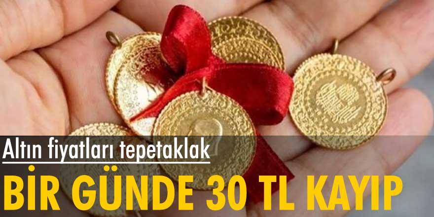 Altın fiyatları tepetaklak... Bir günde 30 TL kayıp