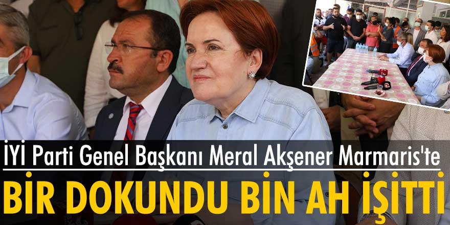 İYİ Parti Genel Başkanı Meral Akşener Marmaris'te
