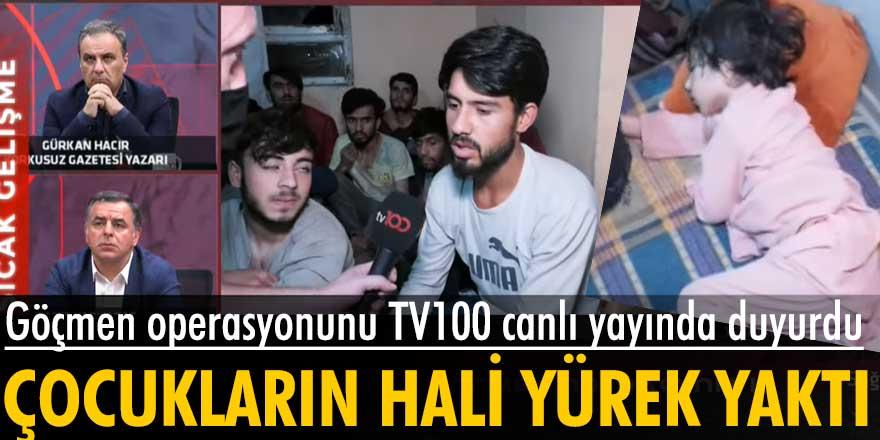 Kaçak göçmen operasyonu TV100 canlı yayınında!
