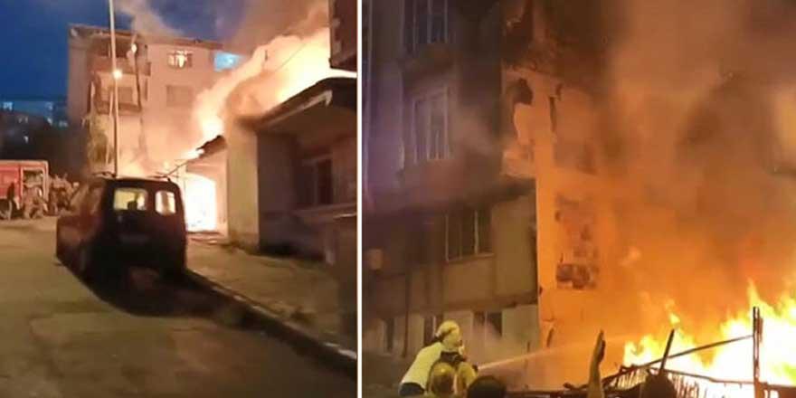 Gaziosmanpaşa'da korkutan yangın