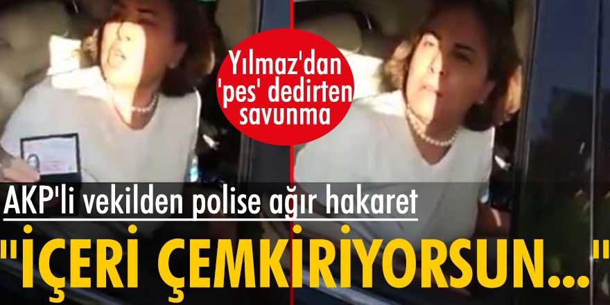 CHP Mersin Milletvekili Ali Mahir Başarır, AKP Milletvekili Zeynep Gül Yılmaz'ın polise hakaret ettiği görüntüleri paylaştı
