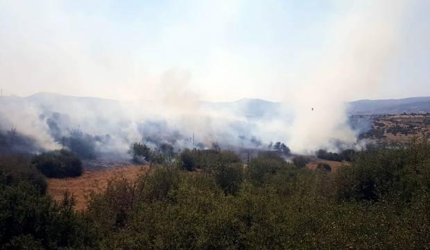Kula'da makilik yangını söndürüldü