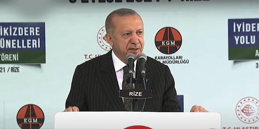 Cumhurbaşkanı Recep Tayyip Erdoğan, Rize'deki açılış töreninde açıklamalarda bulundu