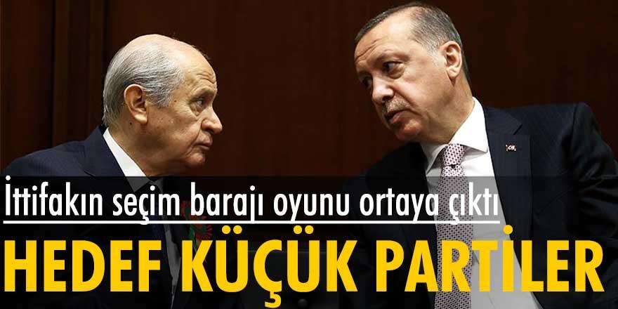 Cumhur İttifakı'nın seçim barajı oyunu ortaya çıktı